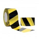Fita zebrada amarelo/preto 150mts