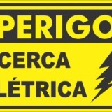 Perigo cerca elétrica 30x20cm