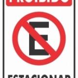 Proibido estacionar 20x30cm