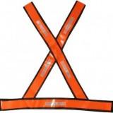 Colete X refletivo laranja