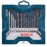 Jogo de Brocas X-line 3 a 8mm c/ 15 Peças