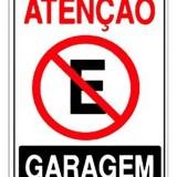 ATENÇAO GARAGEM 20X30cm 0,80mm